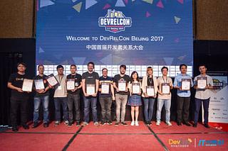 DevRelCon Beijing speakers with certificates